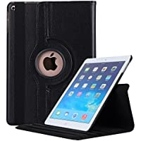 Robustrion Smart 360 Degree Rotating Stand Case Cover for New iPad 9.7 inch 2018/2017 5th 6th Generation - Black