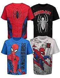 Spiderman Boys 4 Pack T-Shirts