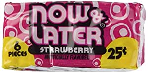 Now and Later Strawberry -6pc (24 pack)