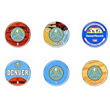 NBA Denver Nuggets WCR66957110 Round Button (6 Pack), 2''