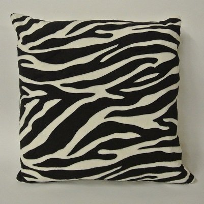 Zebra animal print cushion cover black white square home decor black and white