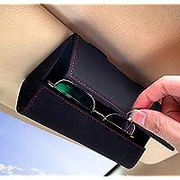 Epzia Car Sunglass Holder, Car Visor Sunglasses Case with Hidden Magnetic Closure Universal Automotive Eyeglasses…