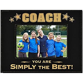 Amazon.com - GIFT COACH PICTURE FRAME ~ Engraved Leatherette Picture ...