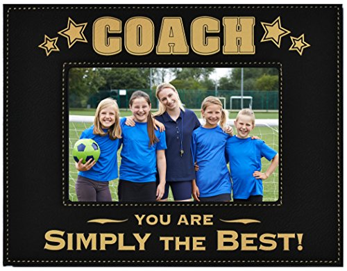 GIFT COACH PICTURE FRAME ~ Engraved Leatherette Picture