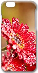 Red Gerbera Flowers After Rain Apple iPhone 6 Plus Case, 3D iPhone 6 Plus Cases Hard Shell Cover Skin Casess