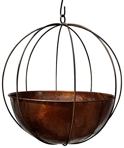 Passage XLG-WOK-23-DHDC Hanging Planter, Copper