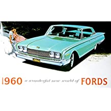 FOR OWNERS & RESTORERS 1960 FORD DEALERSHIP SALES BROCHURE - Includes Custom Series, Custom 300 & Fairlaine Series, Fairlane 500, Galaxie, Falcon, Thunderbird, Wagons, Convertible