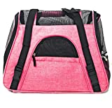 Ptratronics Petratronics Premium Deluxe Bolster Soft-Sided Fleece Bed for Dogs and Cats (Ravishing Pink, Summer Bag) For Sale