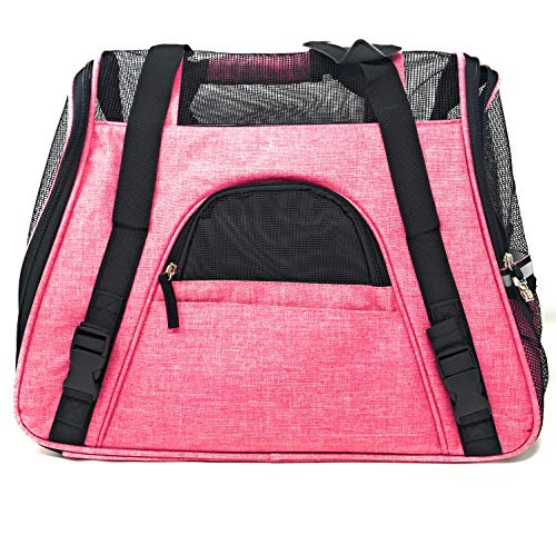 Ptratronics Petratronics Premium Deluxe Bolster Soft-Sided Fleece Bed for Dogs and Cats (Ravishing Pink, Summer Bag)