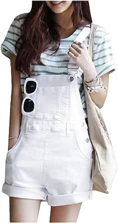 DressUWomen Botón el bolsillo del dril sólido trajes cortos ocasionales para Mujers