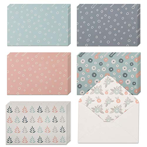 "40 Blank Note Cards with Envelopes & Stickers | 4"" x 6"" Bulk Boxed Set of all Occasions Greeting Notecards 
