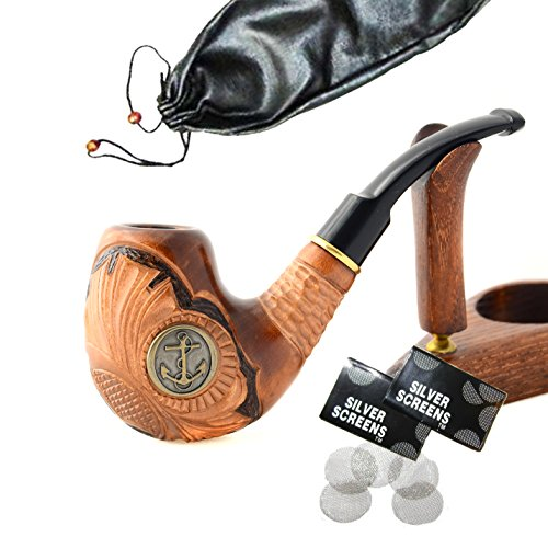Dunhill Pipe Tobacco (Pear Wood Hand Carved Tobacco Smoking Pipe