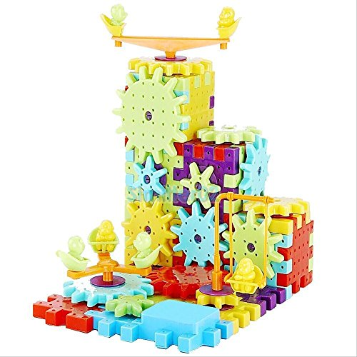 81pcs Child Kid Plastic Multicolor Building Blocks Gears Puzzle Educational Toys