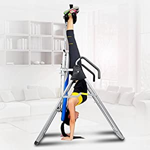ZENOVA Inversion Table Back Support,Back Therapy Inversion Equipment with Height Adjustment System, Home Gym Gravity…
