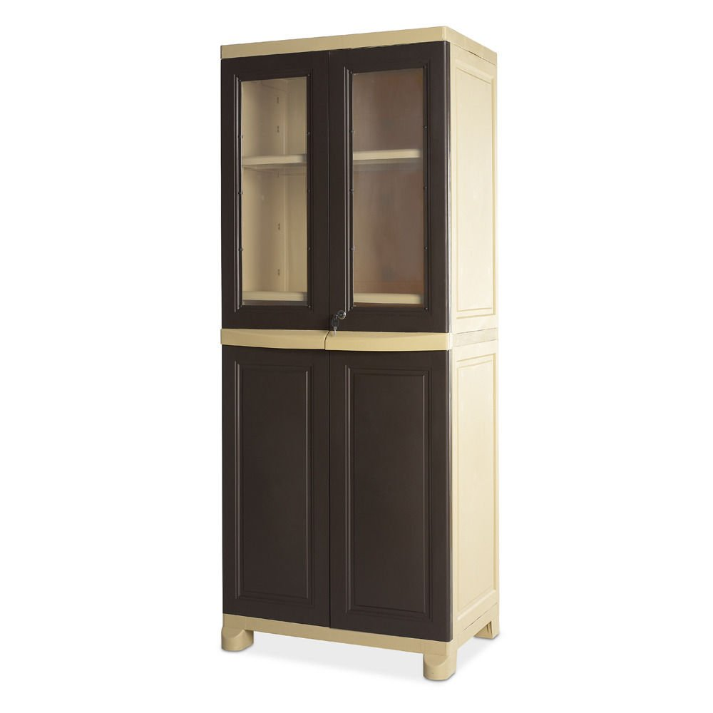 d520440a2f5 Nilkamal Freedom Big 2 (FB 2) Plastic Storage Cabinet (Weathered Brown    Biscuit