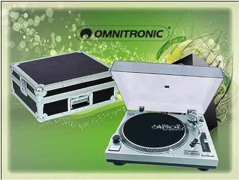 Omnitronic DD-2550 USB DJ Tocadiscos con REC-Software y maletín de ...