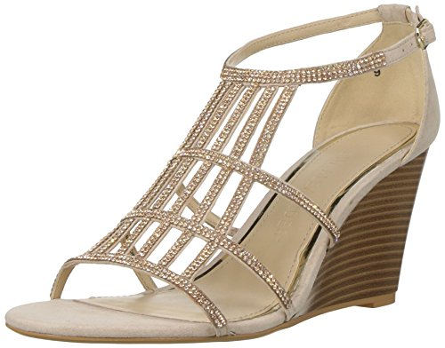 Athena Alexander Women's Hampton Wedge Sandal, Blush Suede, 7 M US