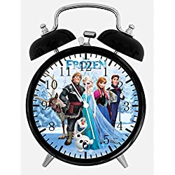 Frozen Twin Bells Alarm Desk Clock 4 Home Office Decor W470 Nice for Gifts