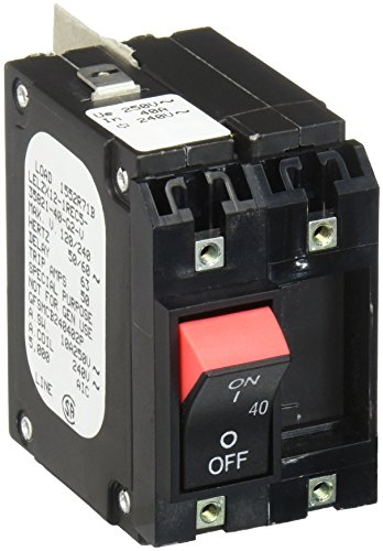 Hubbell GFSMCB240402P 2P Circuit Breaker, 1 Phase, 40 amp, 240 VAC 240v 1 Phase 40 Amps
