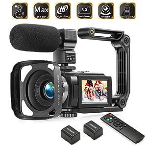 Flashandfocus.com 514icntH5RL._SS300_ Camcorder 1080P Video Camera KOT 36MP 3.0 Inch IPS Touch Screen 16X Digital Zoom IR Night Vision HD Vlogging Camera…