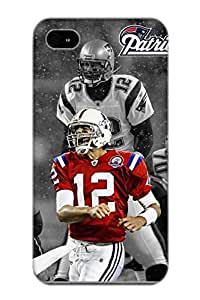 Stylishgojkqt High Grade Flexible Tpu Case For Iphone 4/4s - Tom Brady Patriots( Best Gift Choice For Thanksgiving Day)