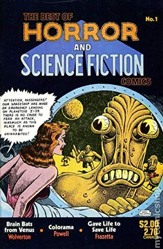 BEST of HORROR and SCIENCE FICTION #1, VF/NM, Basil Wolverton, 1987, Frazetta