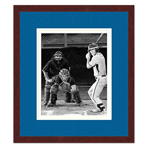 Los Angeles Dodgers Brown Wood Photo Frame Made to Display 5x7 Photos ()