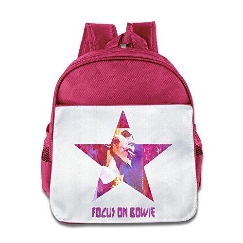 Jade Custom Cool DavidBowie Singer Songwriter Actor Popular Music Children School Bag For 1-6 Years Old Pink