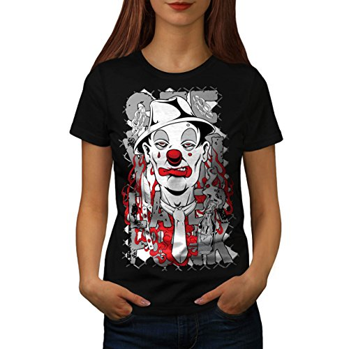 Clown Tie Death Horror Women L T-shirt | Wellcoda