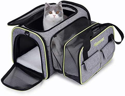 DADYPET Transportin Gato, Transportin Perro Pequeño Mascotas Cómodo Bolso para Transporte en Tren, Coche, Avión 44.5 * 33 * 28CM Mediano (Gris): Amazon.es: Productos para mascotas