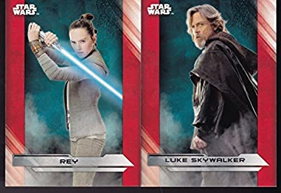 Star Wars Topps Last Jedi Movie Base Card Complete Set 100 Plus 35 Extra Base
