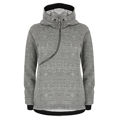 Effet Melange Extra Fred Large Tissu Curve Sweat Gray brod en Shirt Perry Black rwnqrxP4