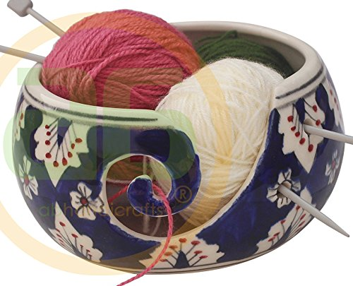 Black Friday Deals Cyber Monday Deals - Ceramic Yarn Bowl for Knitting, Crochet for Moms - Beautiful Gift on All Occasions. A Perfect Gift for Moms and Grandmothers (Big Yarn_22)