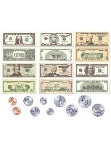 US Currency Coins & Bills Felt Figures for Flannel Board + Lesson -