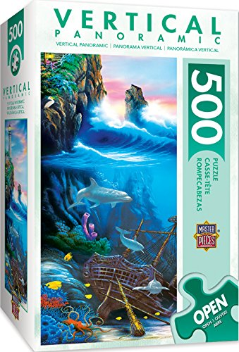 - MasterPieces Vertical Panoramics Day Dreams Underwater Scene Panoramic Jigsaw Puzzle by David Miller, 500-Piece