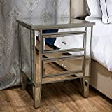 Crawford Vintage Mirror Two-Drawer End Table Casual Contemporary Mirrored by CapMart