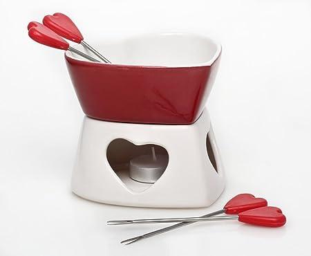 RJJ Home Cooking Ceramic Cioccolato fonduta di Formaggio Set Senza Candele