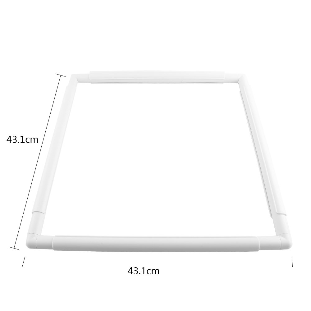 43.1cm Universale quadrato rettangolo clip di plastica telaio per ricamo a punto croce quilting Needlepoint silk-painting Tool 43.1