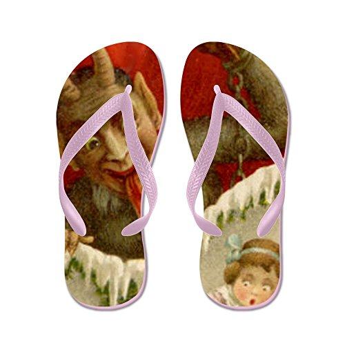 Cafepress Duivel Krampus Kerst - Flip Flops, Grappige String Sandalen, Strand Sandalen Roze