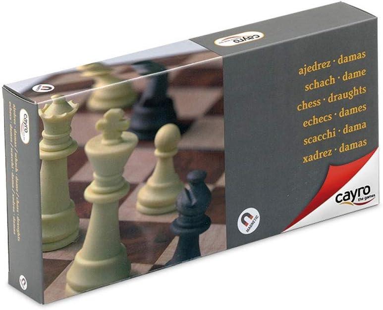 Cayro - Ajedrez y Damas magnético con Piezas 24x24— Juego de observación y lógica - Juego Mesa - Desarrollo de Habilidades cognitivas e inteligencias múltiples - Juego Tradicional (453)