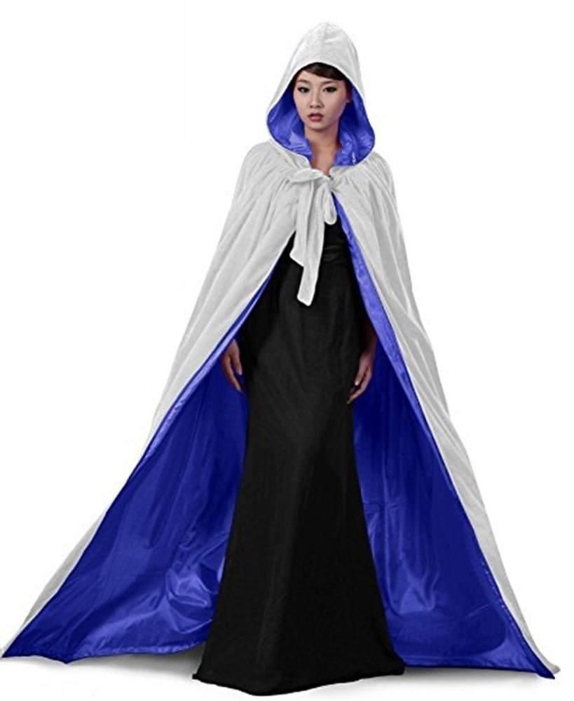 Venus Bridal Herren Cape Fur Renaissance Mantel Cosplay Schwarz Renaissance Cape Frauen VB Capes STY2 Blue S
