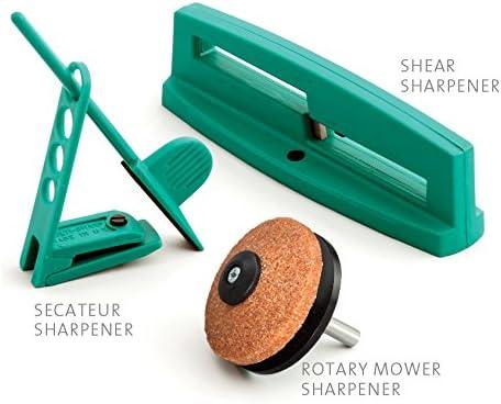 MULTI-SHARP 1801 Kit de Afilado de Cuchillas Multiusos para Herramientas de Jardín para Cortacésped Rotativo, Podadoras, Tijeras de Podar, Tijeras y Más