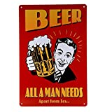 VictorJoan Beer all a man needs Aparts from sex wall hanging Paintings wall art home decoration accessories