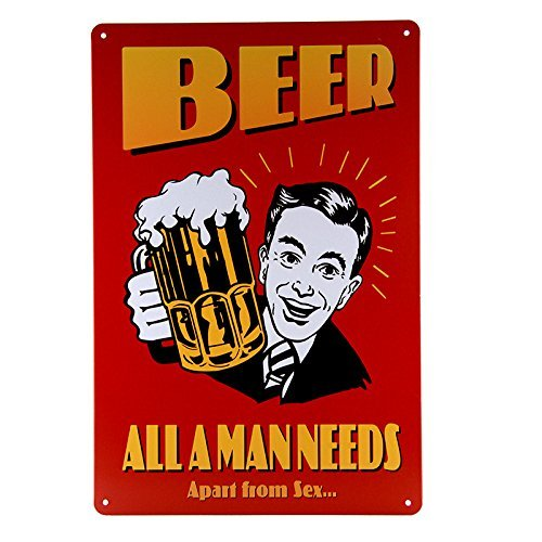 VictorJoan Beer all a man needs Aparts from sex wall hanging Paintings wall art home decoration accessories by VictorJoan