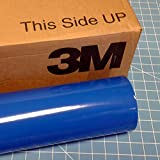 24'' x 100 Ft Roll of Azure Blue 3M Scotchcal Series 50 Vinyl for Craft Cutters and Vinyl Sign Cutters