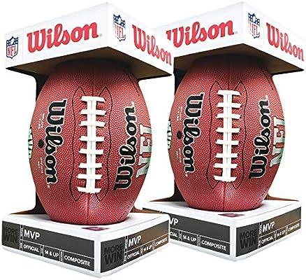 Wilson NFL MVP - Balón de fútbol (Talla 2), Color Negro: Amazon.es ...