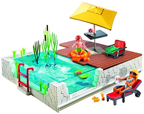 Playmobil 174 Swimming Pool With Terrace Play Set Import It All