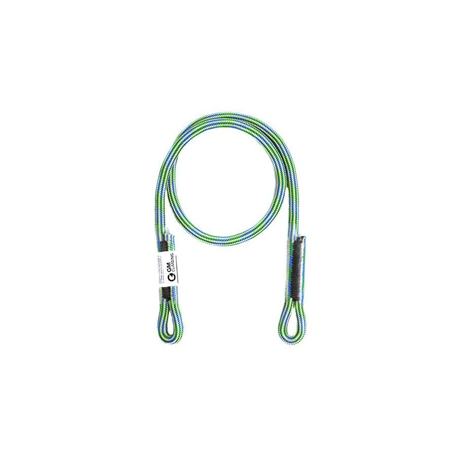 GM CLIMBING 8mm (5/16in) Prusik Swen Eye to eye Pre Sewn Heat Resistant Friction Hitch Cord Kevlar & Polyester 30inch