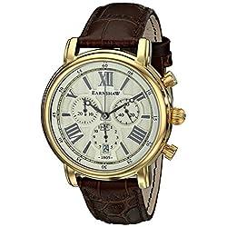 Thomas Earnshaw Men's ES-0016-03 Longcase Analog Display Swiss Quartz Brown Watch