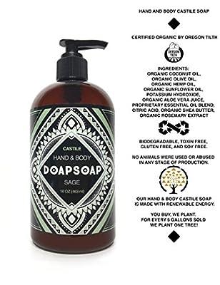 DOAPSOAP Lavender - Certified Organic Castile Liquid Hand & Body Soap
